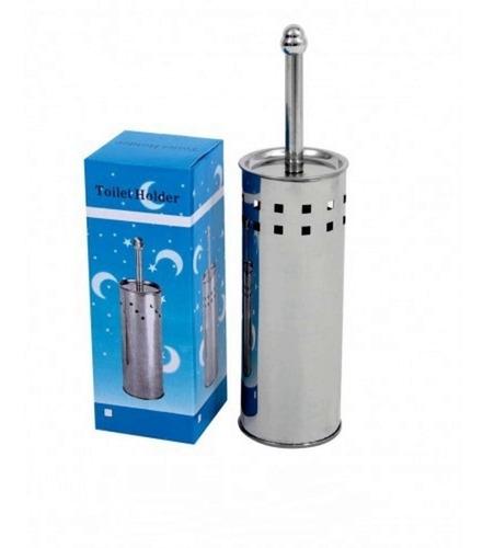 kit 03 escovas de limpar vaso sanitário suporte aço inox