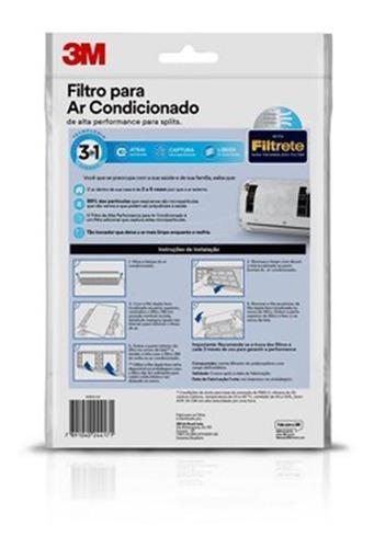 kit 03 filtros para ar condicionado split - 3m