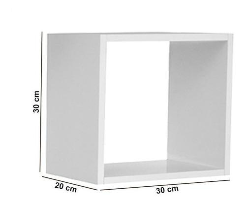 kit 03 nicho expositor salão barbearia branco brilho 30x30cm