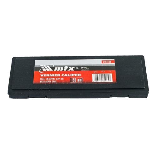 kit 03 paquimetro metalico universal 150mm + case mtx