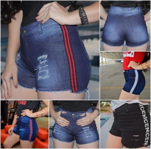 kit 03 short bermuda jeans feminino atacado roupas femininas