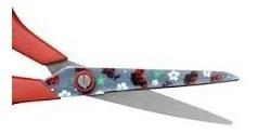 kit 03tesoura de uso geral joaninha 7  - ricsen 19,5 cm