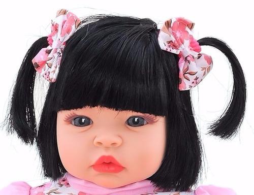 kit 04 boneca baby kiss estilo reborn menina sid nyl + frete