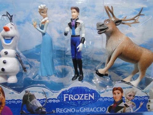 kit 04 bonecos de 12  cm  novos frozen na embalagem