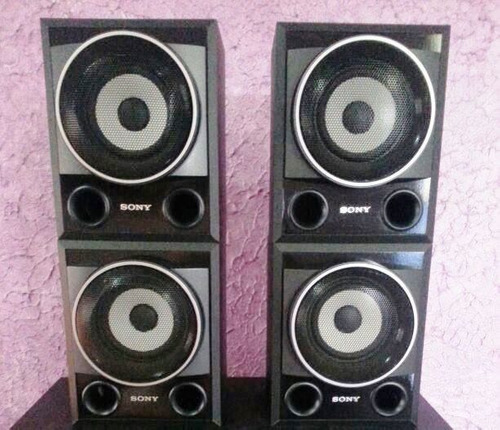 kit 04 caixas acusticas surrounds sony muteki 7600 - 185w
