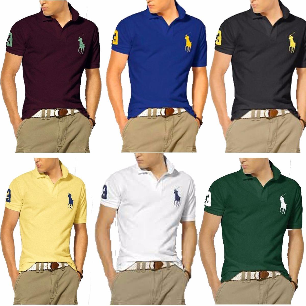 Kit 04 Camisas Camisetas Revenda Gola Polo Masculina Atacado - R  78 ... 0572d49e75912