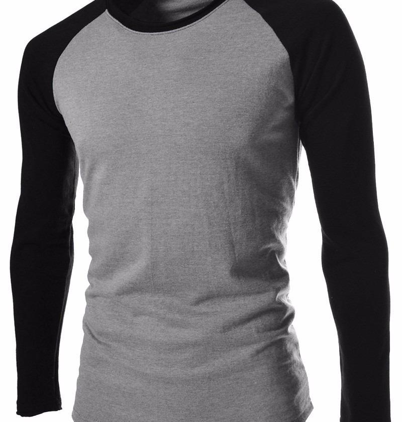 f6bdb0f31 kit 04 camisetas blusa de frio masculina raglan manga longa. Carregando  zoom.