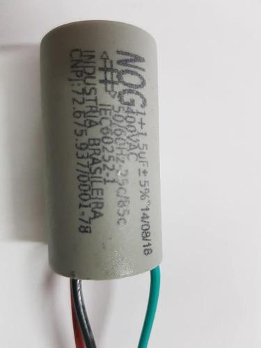 kit 04 capacitores para ventilador 3 fios 1 + 1,5uf