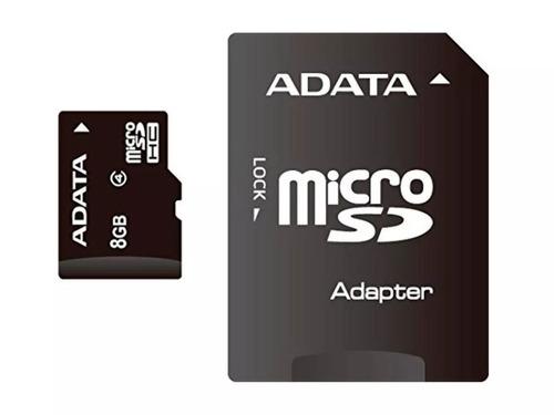 kit 04 cartão memória micro sd a-data 8gb + 1 adpt. class 4