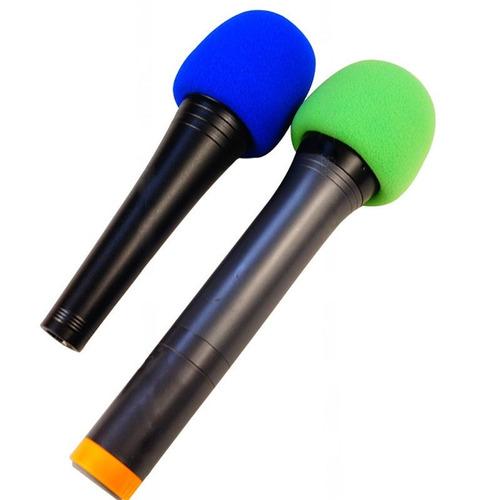 kit 04 espumas capa  microfone de mão alta qualidade cantor