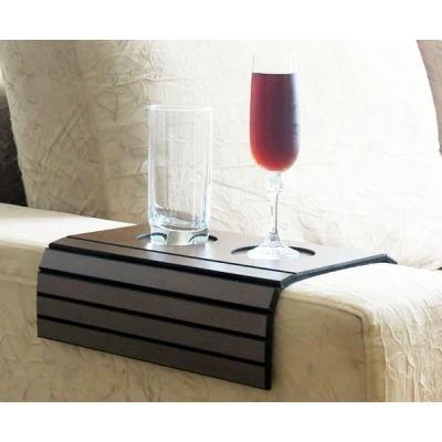 kit 04 esteira suporte p/ braço sofá c/ porta copos flexivel