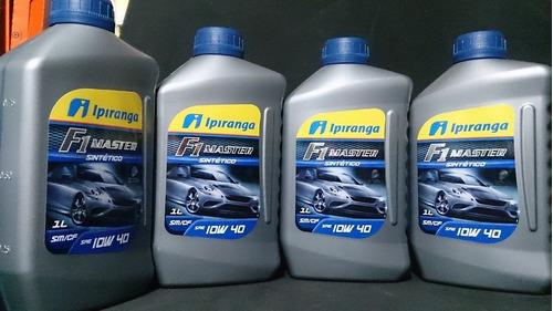 kit 04 l óleo 100% sintético ipiranga f1 master 10w40 sm