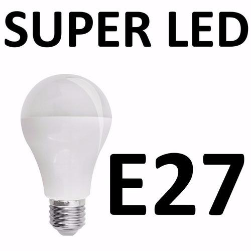 kit 04 lampadas super led ourolux e27 6w bivolt 6400k