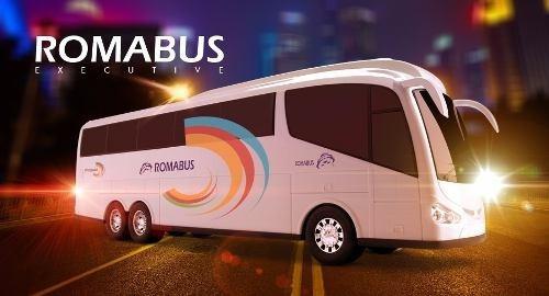 kit 04 ônibus roma bus executive - roma