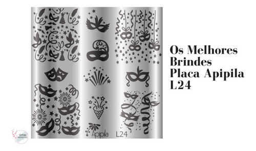 kit 04 placas carimbos unhas gratis carimbo+esmalte+brinde