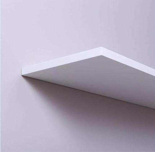 kit 04 prateleiras nichos mdf 80x20 branco 15mm decora sala.