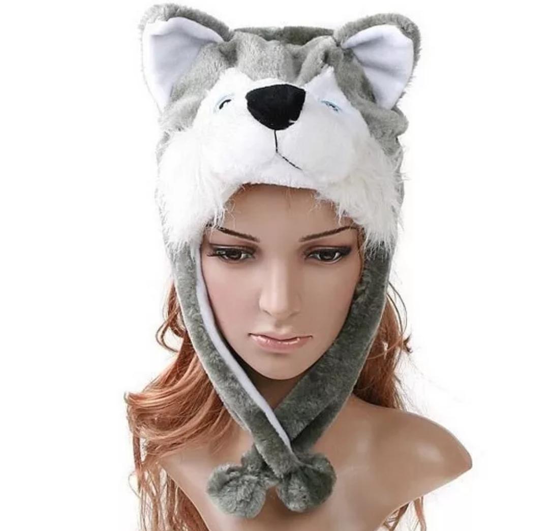 d1b01557db8dc kit 04 toucas gorro bichinho de pelúcia inverno cosplay. Carregando zoom.