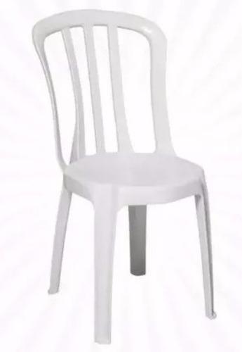 kit 05 cadeiras plasticas bistrô - frete gratis