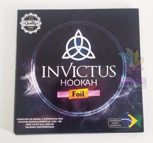 kit 05 caixas papel alumínio para narguile - invictus hookah