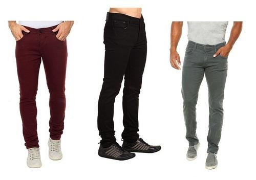 kit 05 calça jeans masculina skinny atacado ótima qualidade!