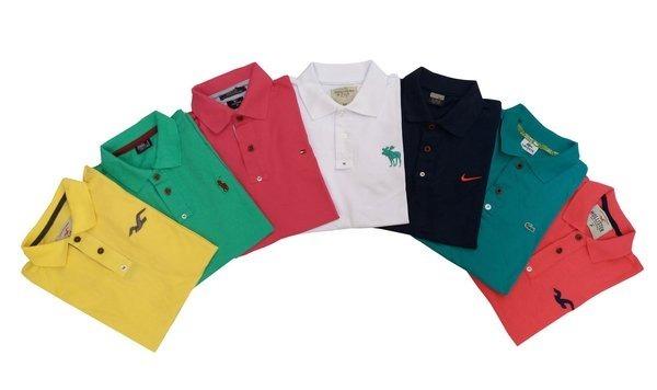 1e62d7e58bbc3 Kit 05 Camiseta Camisa Blusa Masculina De Marca Polo !! - R  160