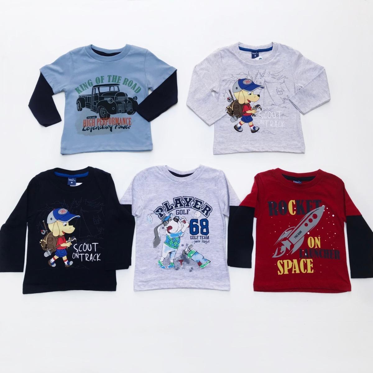 5681da339a kit 05 camisetas manga longa infantil menino personagens. Carregando zoom.