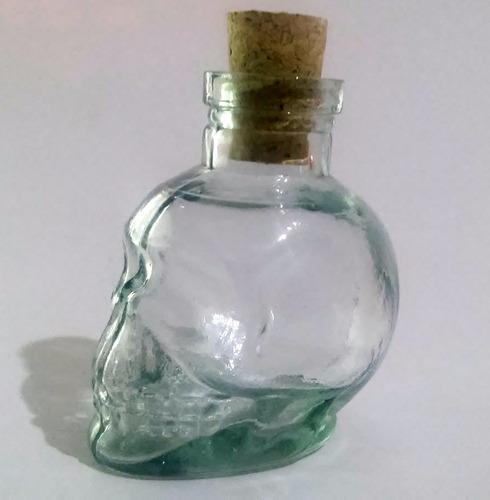 kit 05 garrafa caveira 120 ml skull
