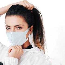 Kit 05 Máscaras Branca Antiviral Fashion Med Reutilizável
