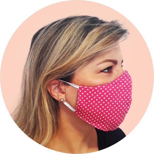 kit 05 máscaras laváveis - bico de pato