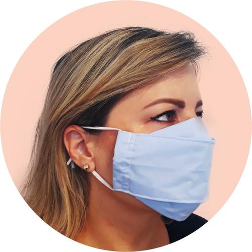 kit 05 máscaras laváveis - modelo 3d +confortáveis