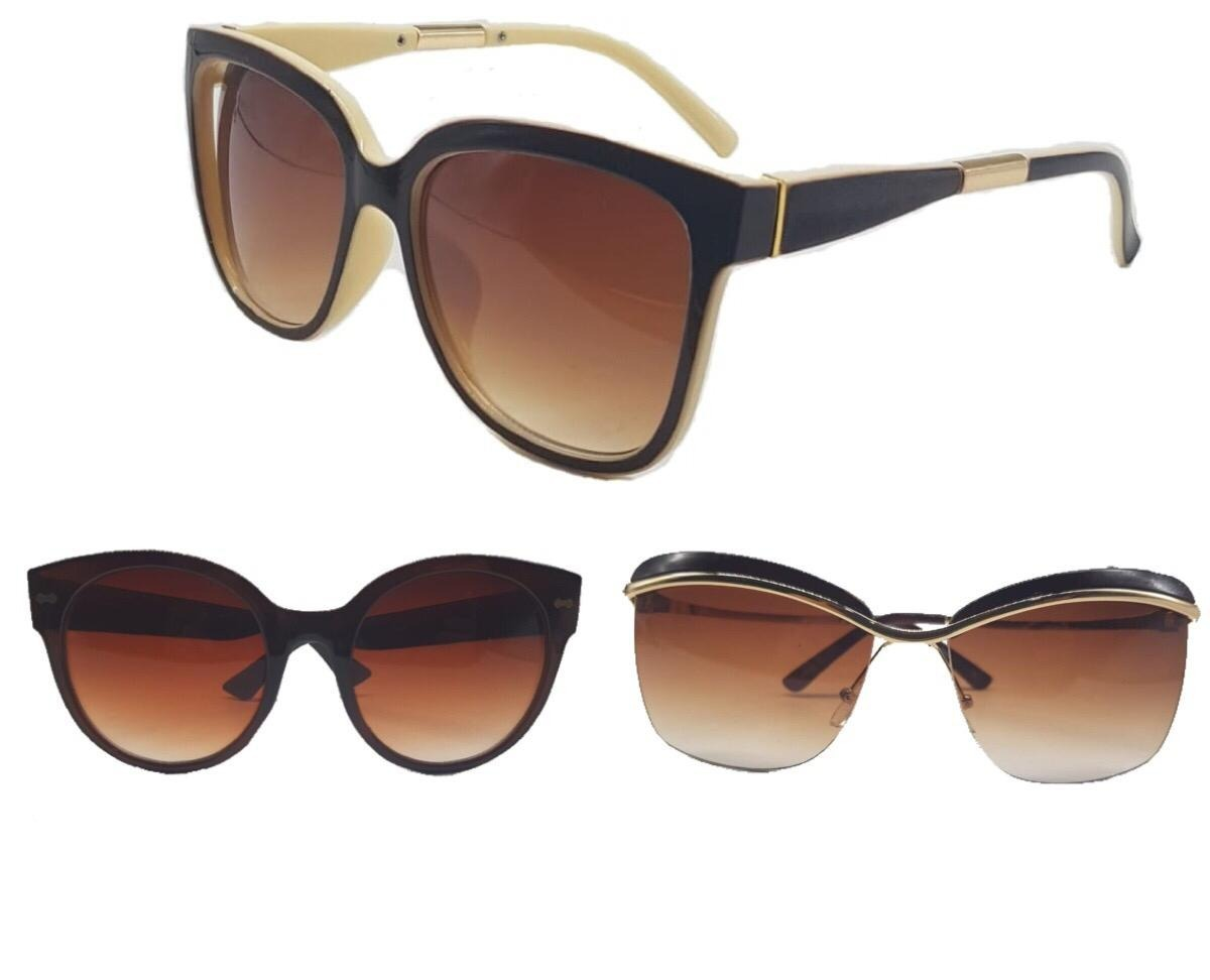 6c1019b51766e Kit 05 Óculos De Sol Feminino Flanela Caixinha Atacado - R  139,00 em  Mercado Livre