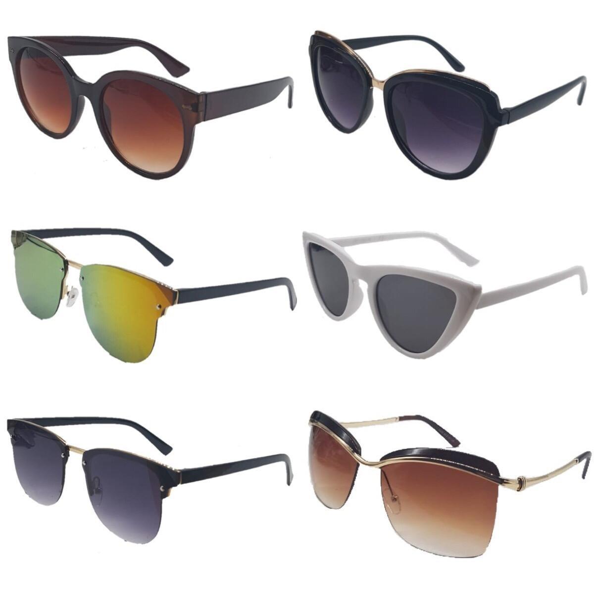 269e16cd7ba9a Kit 05 Óculos De Sol Feminino Flanela Caixinha Atacado - R  139,00 em  Mercado Livre