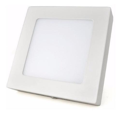 kit 05 painel plafon led quadrado 18w sobrepor luminaria led