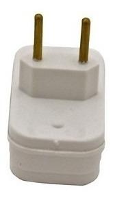 kit 05 pino adaptador tomada 3 pinos t benjamim elétrico