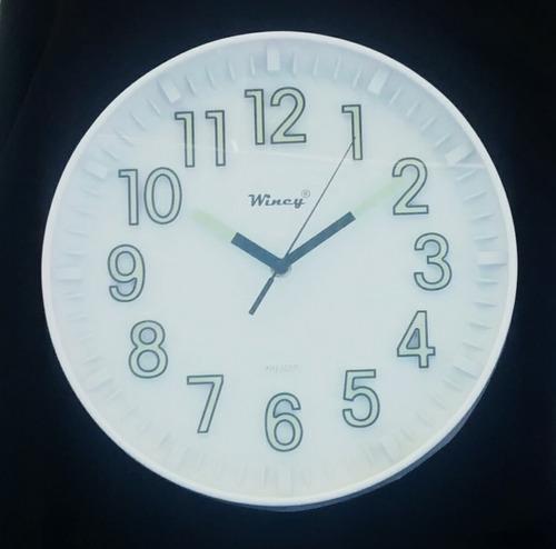 kit 05 relógios de parede brilha escuro fluorescente redondo