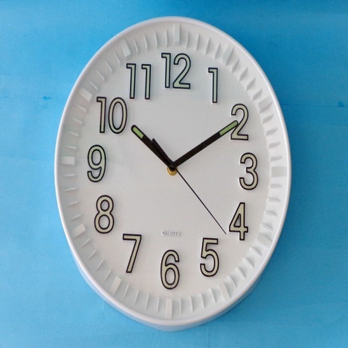 kit 05 relógios de parede fluorescente brilha no escuro