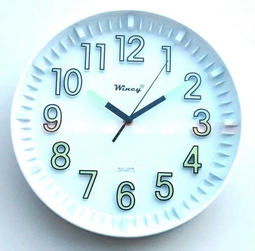 kit 05 relógios de parede que brilha no escuro fluorescente