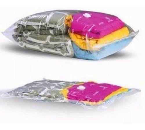 kit 05 sacos à vácuo organizador protetor roupas viagem 56x44cm
