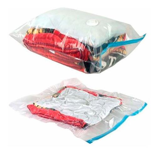 kit 05 sacos à vácuo organizador protetor roupas viagem 85x53cm