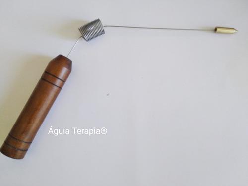 kit 05 unid. aurameter /aurímetro /madeira prof. radiestesia
