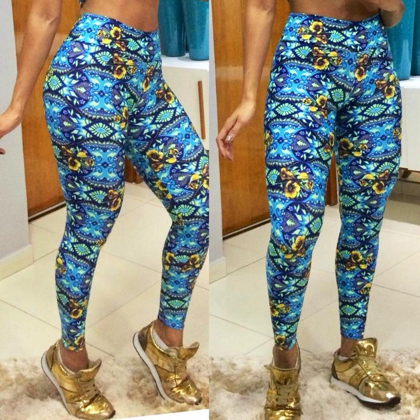 f7bdbeee3 kit 06 calças legging cós alto roupas de academia femininas. Carregando zoom .