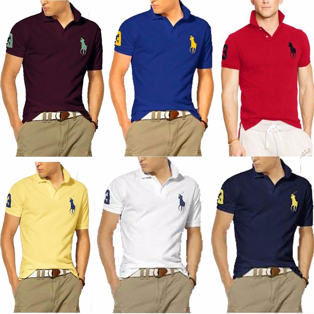 52496110b1 Kit 06 Camisas Camisetas Gola Polo Masculina Atacado Revenda - R ...