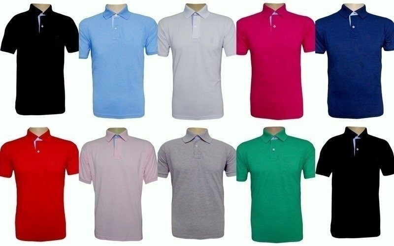 ddf22956ac kit 06 camisas camisetas gola polo masculina camisa blusas. Carregando zoom.