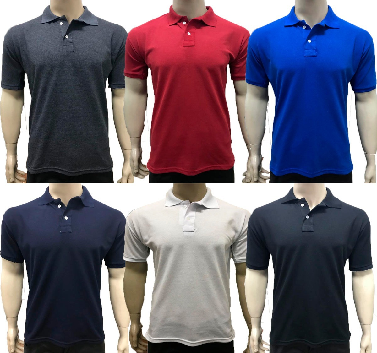 Kit 06 Camisas Camisetas Revenda Gola Polo Masculina Atacado - R ... 9ffd9b8cf7