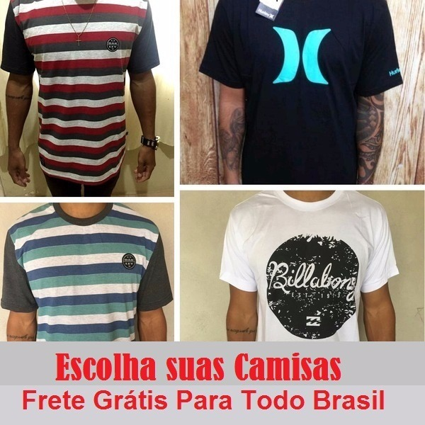 Kit 06 Camisas Masculina Hurley adidas E Outras + Brinde - R  129 217a0c67e129f
