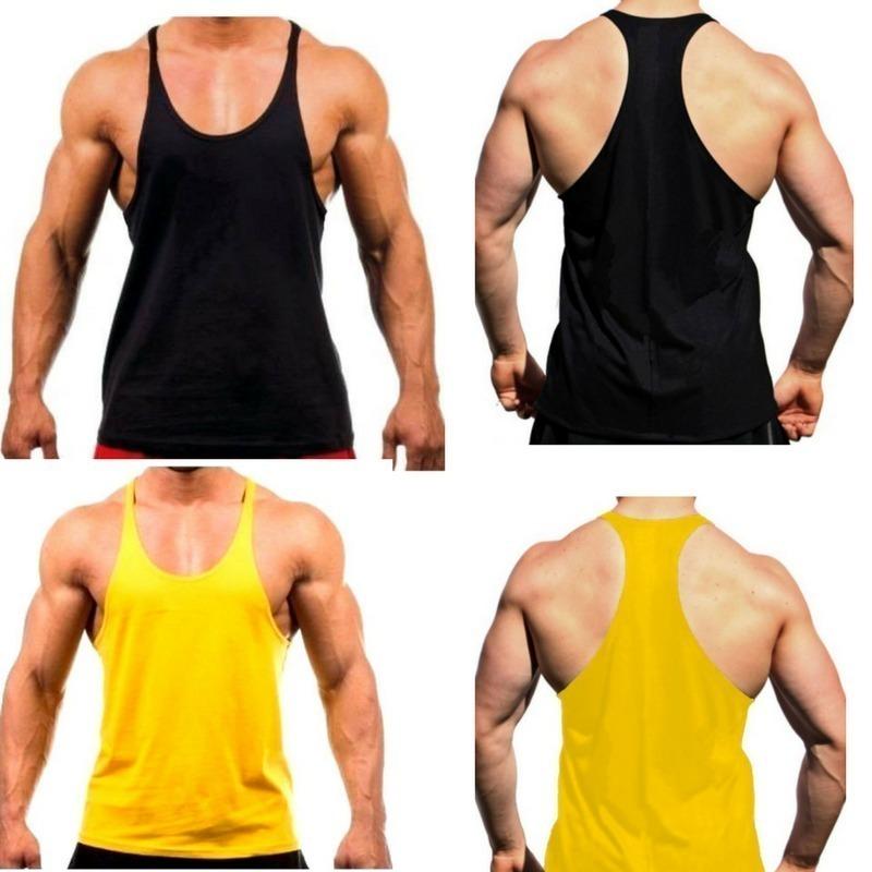 0a6069bf06696 kit 06 camiseta regata super cavada masculina academia musc. Carregando zoom .