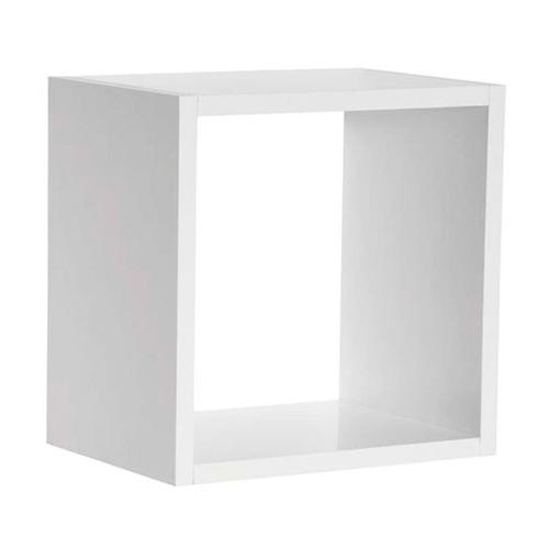 kit 06 nicho decorativo salão barbearia mdp branco 30x30cm