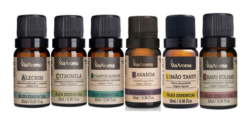 kit 06 óleos essenciais 100% puro via aroma