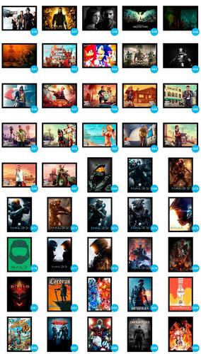 kit 07 placas decorativas geek nerd quarto gamer mangá anime