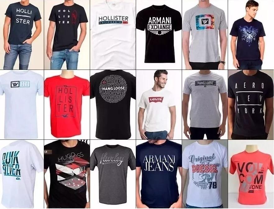 dca6bd3dc kit 08 camisetas camisas masculinas diversas marcas famosas. Carregando  zoom.